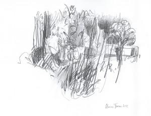Desenho-grafite sobre papel 29,5x32cm  2012